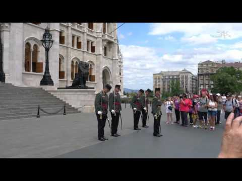 Hungarian Parliament Guard (4K Video)