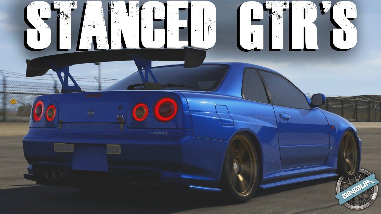 2012 Nissan R35 GTR / 2002 Nissan R34 GTR || STANCE BUILD || Forza 6    YouTube