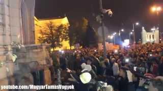 Internetadó Netadó elleni tüntetés (Budapest - 2014.10.26) #04