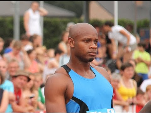 Asafa Powell 100m at the KBC Night of Athletics Belgium