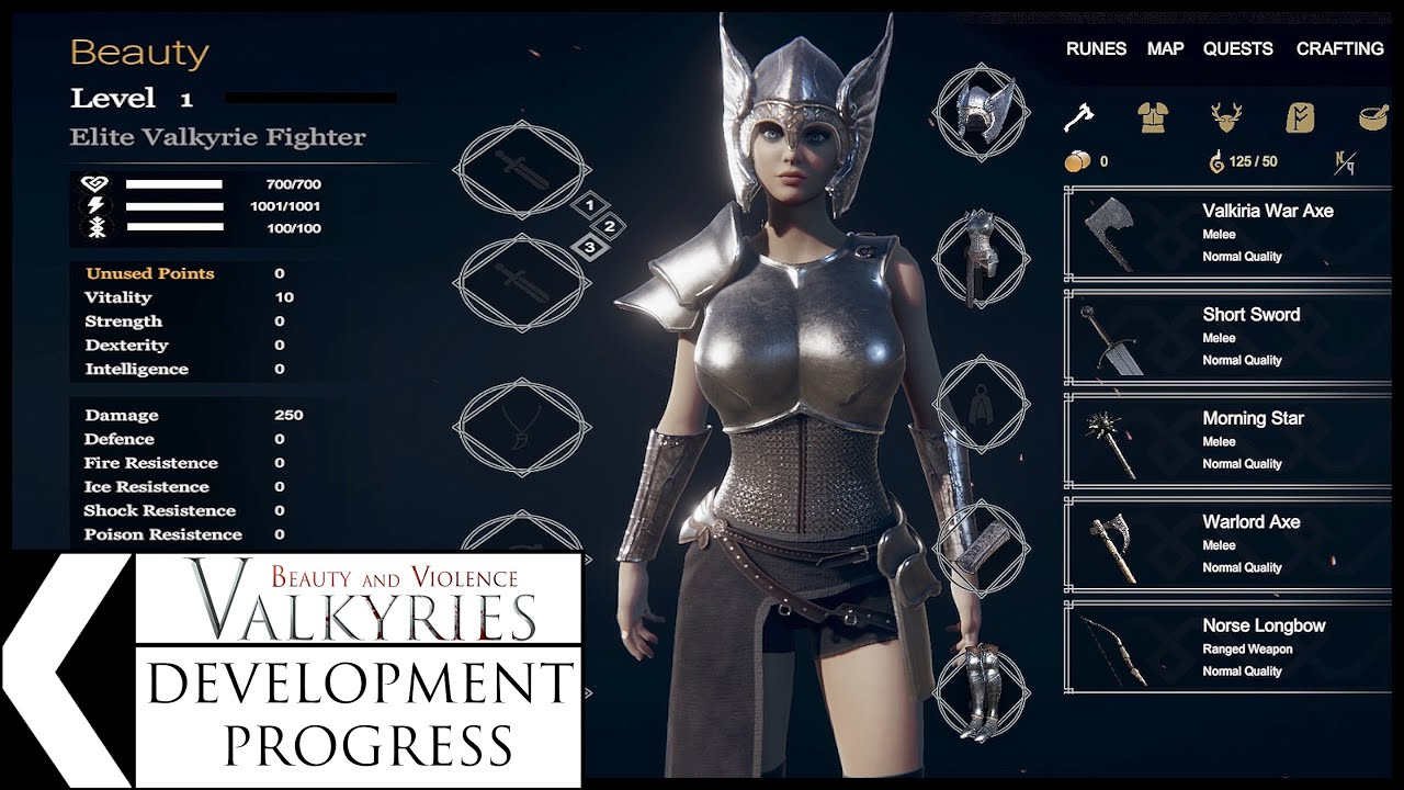 Development Progress of Beauty and Violence: Valkyries