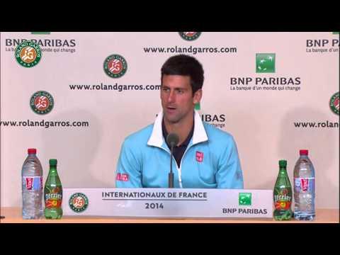 Roland Garros 2014 Sunday2 Interview Djokovic