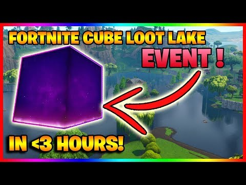 🔴 FORTNITE CUBE MOVING RIGHT NOW?!  LOOT LAKE EVENT COUNTDOWN!  247 STREAM!