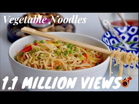 വെജിറ്റബിൾ നൂഡിൽസ്  |Restaurant Style Vegetable  Hakka Noodles ||Indo-Chinese Noodles || Eps:198