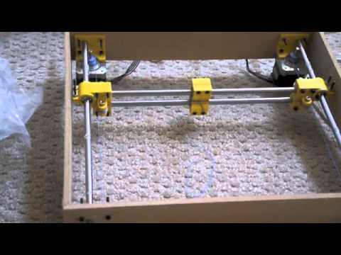 Hbot xy stage experiments with fishing line youtube - Where can i buy a 3d printed house ...