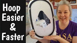 Hooping Embroidery FAST & EASY with a