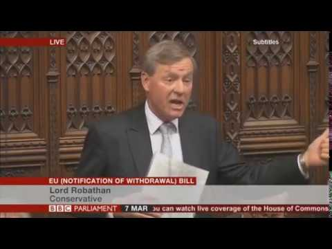 """Lord Robathan Calls out the """"Patronising"""" Lords"""