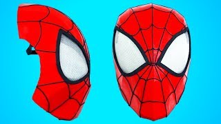 SPIDER-MAN MASK - SPIDERMAN FACESHELL - How To | Creative Minds