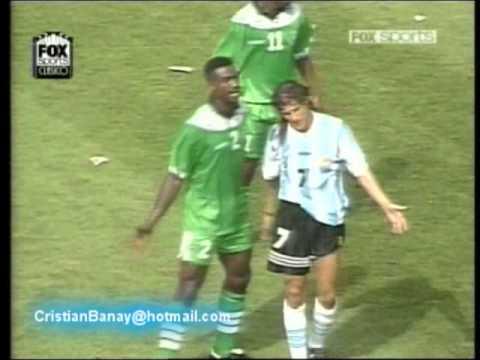 Argentina 2 Nigeria 1 Mundial 1994 (Los goles)