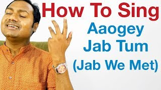 "Aaoge Jab Tum - Singing Lesson ""Bollywood Singing Lessons Online"""