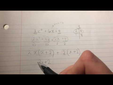 Trinomials (Expanding and Factoring)