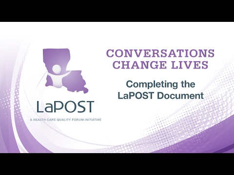 Conversations Change Lives: 4) Completing The LaPOST Document