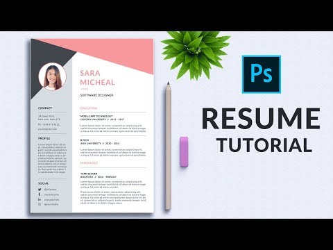 How To Create A Resume Template In Photoshop | In-Depth Tutorial | PE35