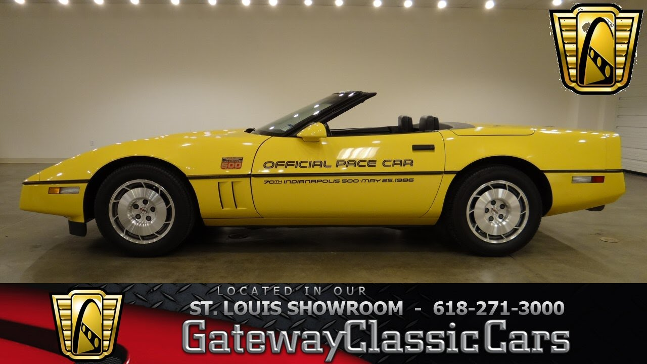 1986 Chevrolet Corvette Covertible Pace Car - Gateway Classic Cars ...