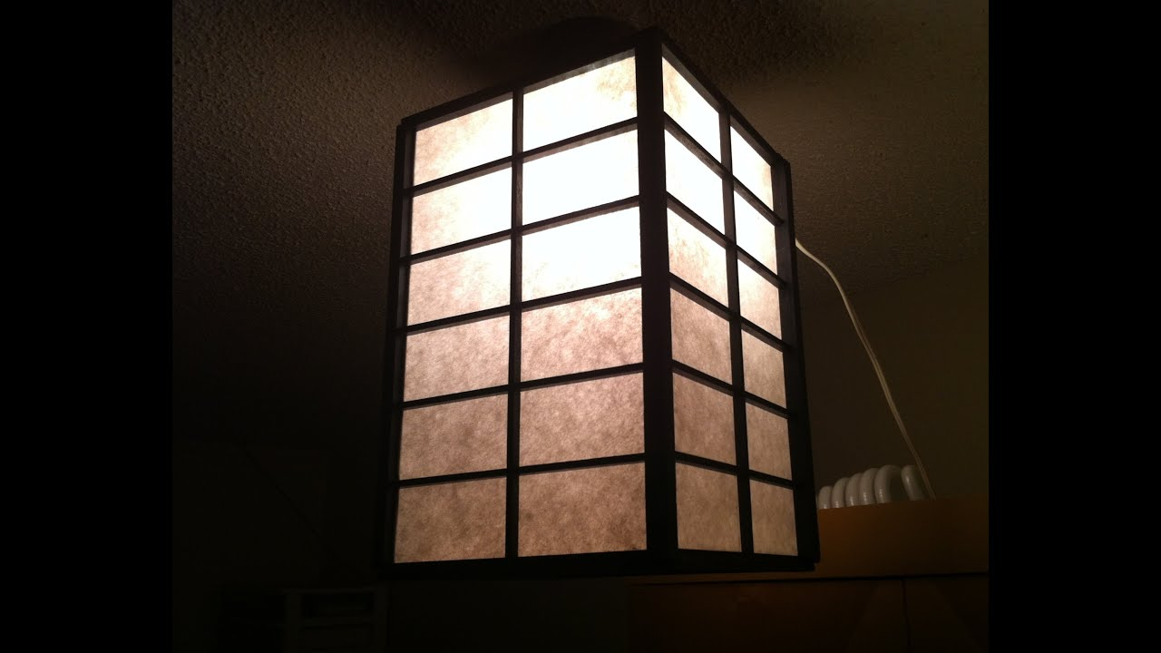 Red Shade Home Made Japanese Lantern Made From Garbage Youtube