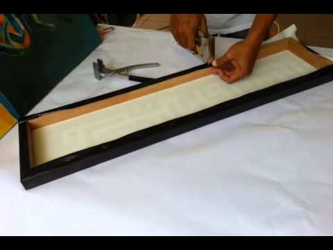 how to stretch kufi art canvas youtube. Black Bedroom Furniture Sets. Home Design Ideas