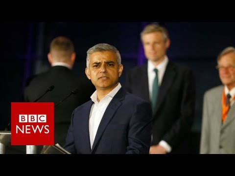 Labour's Sadiq Khan elected London Mayor - BBC News