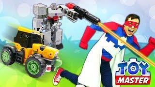 Роботы Трансформеры – Мегатрон и Тоботы против Той Мастера! – Онлайн видео игры в шоу с супергероями