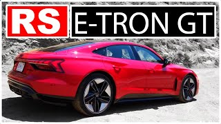 homepage tile video photo for Is Audi's e-tron RS-GT Just a Porsche Taycan in Disguise? - Two Takes
