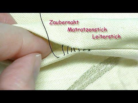 Zaubernaht Matratzenstich Leiterstich Neuauflage Magic Stitch Invisible Stitch