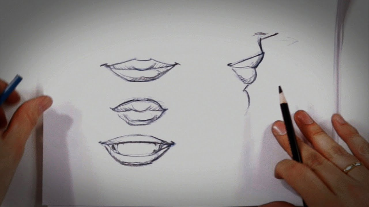 How to draw lips drawing tips