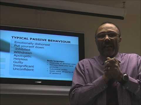 Assertiveness training seminar - recognising assertive passive and aggressive behavioiurs