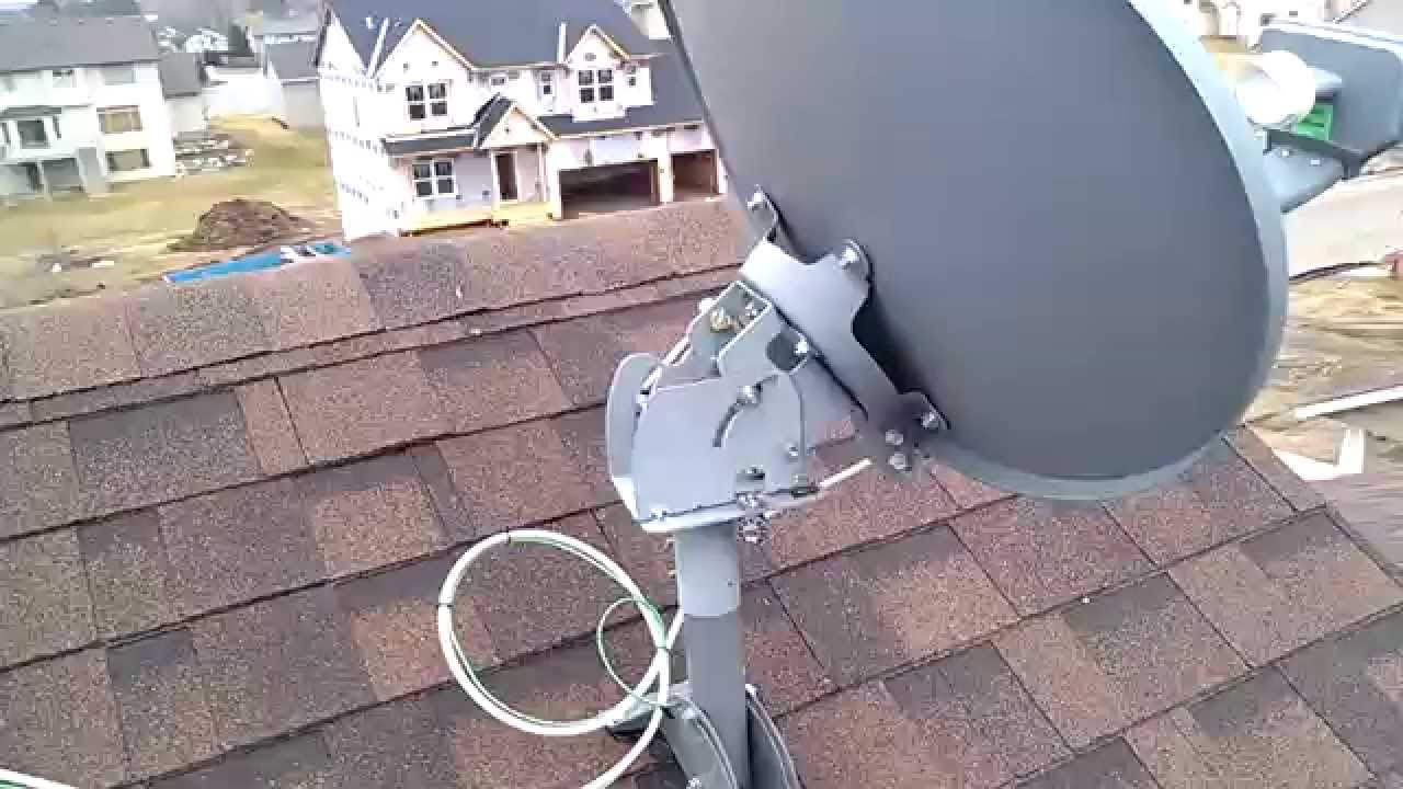 Directv Slimline Dish A Roof View Youtube