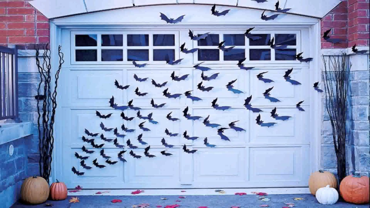 diy garage door halloween decorations