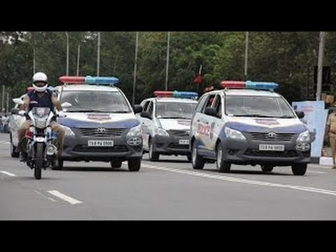 indian president Pranab Mukherjee convoy in Hyderabad on 26th April 2017