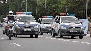 indian president Pranab Mukherjee convoy in Hyderabad on 26th April 2017