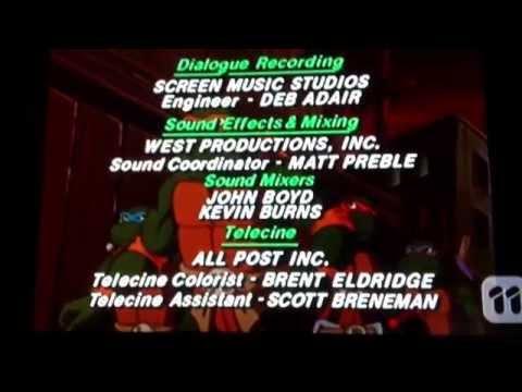 Teenage Mutant Ninja Turtles Closing 1994 Fred Wolf Films 1994 Group W Prod. 1994 *SHORT*