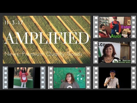 11-3-17 Amplified News Presents, Announcements!