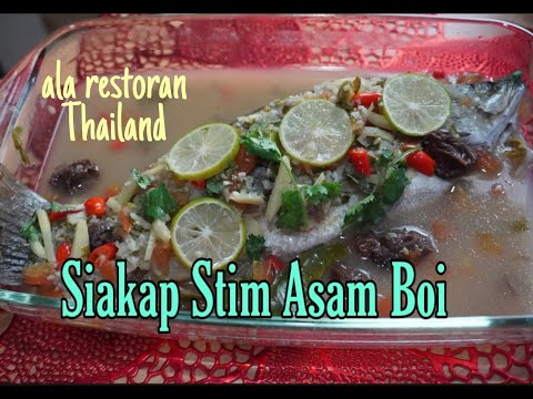 [english-sub]-siakap-stim-asam-boi-ala-restoran-thai-||-steam-seabass-with-sour-plum-||-easy-cooking