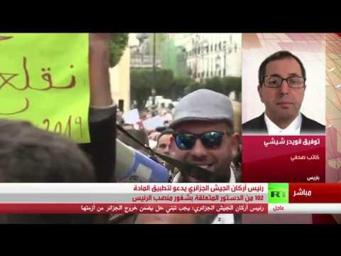 رئيس أركان الجيش الجزائري أحمد قايد صالح يدعو لتطبيق المادة 102 من الدستور - تغطية خاصة  - نشر قبل 5 ساعة
