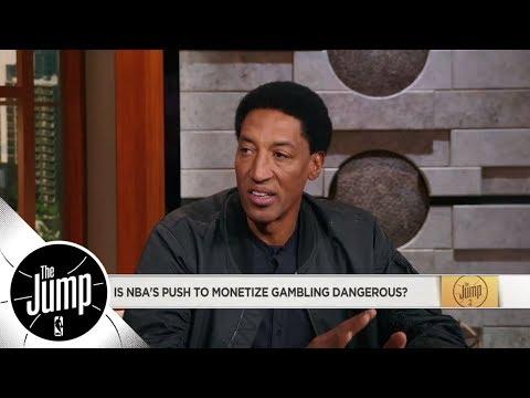 Scottie Pippen on NBA's push to monetize gambling: It is a little dangerous | The Jump | ESPN
