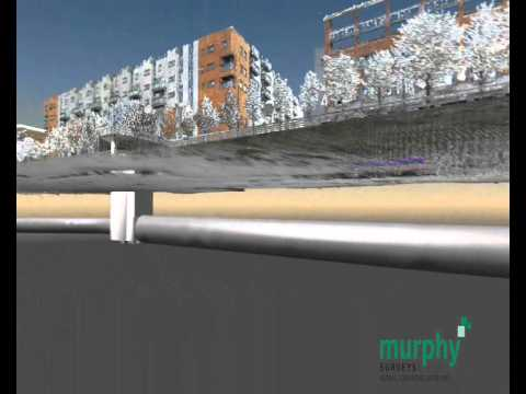 Underground Utility Surveys - 3D Pipe Model by Murphy Surveys