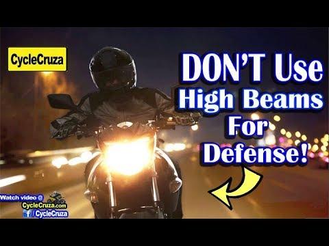 DON'T Use Motorcycle High Beams for Defense! | MotoVlog