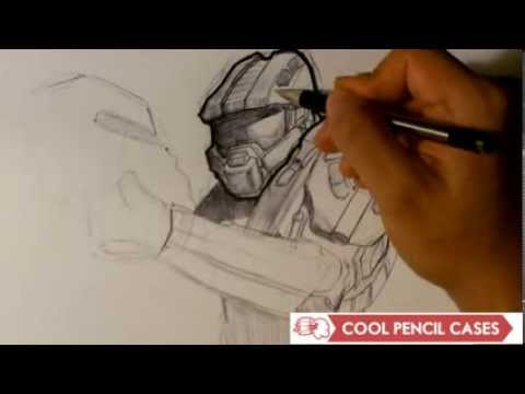 How to Draw Master Chief from Halo - Part 1 - Easy Thngs to Draw