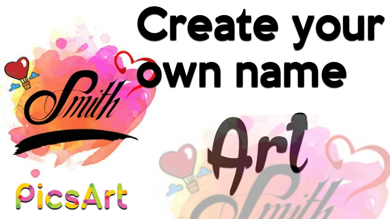 Create Your Own Name Art Graphics Pack Youtube