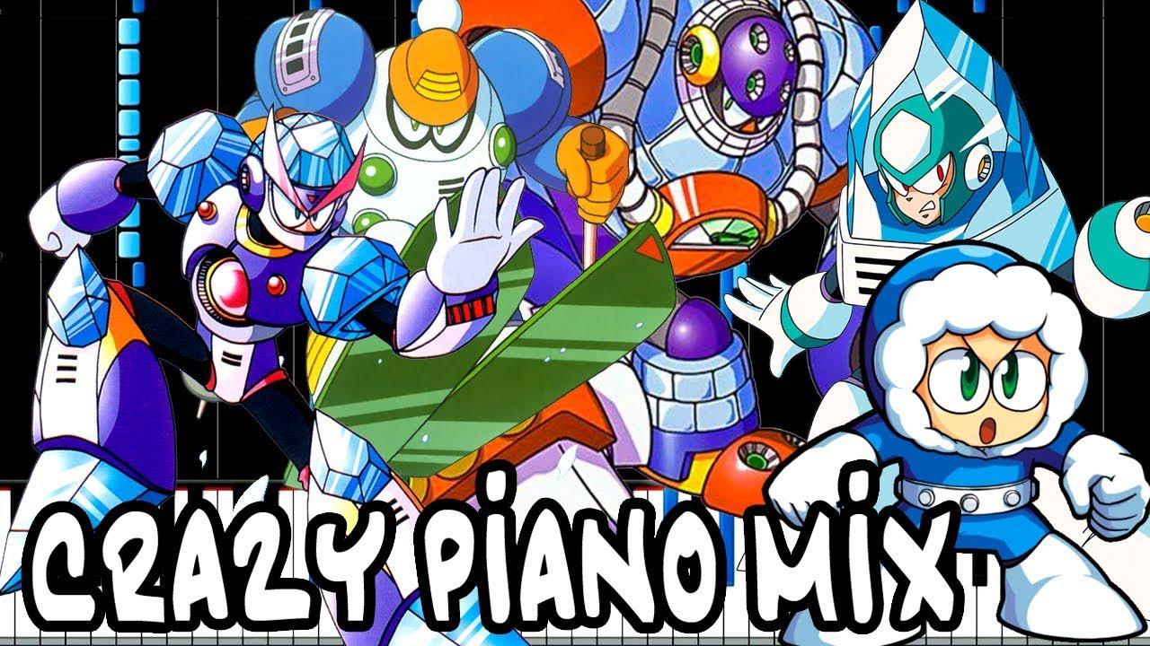 crazy piano mix mega man ice robot masters medley youtube