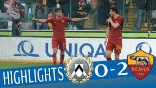 Udinese - Roma 0-2 - Highlights - Giornata 25 - Serie A TIM 2017/18 streaming