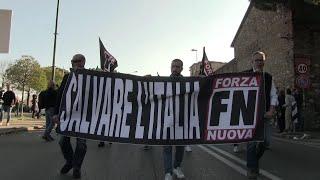 Prato, Forza Nuova sfila in città nonostante il divieto di corteo