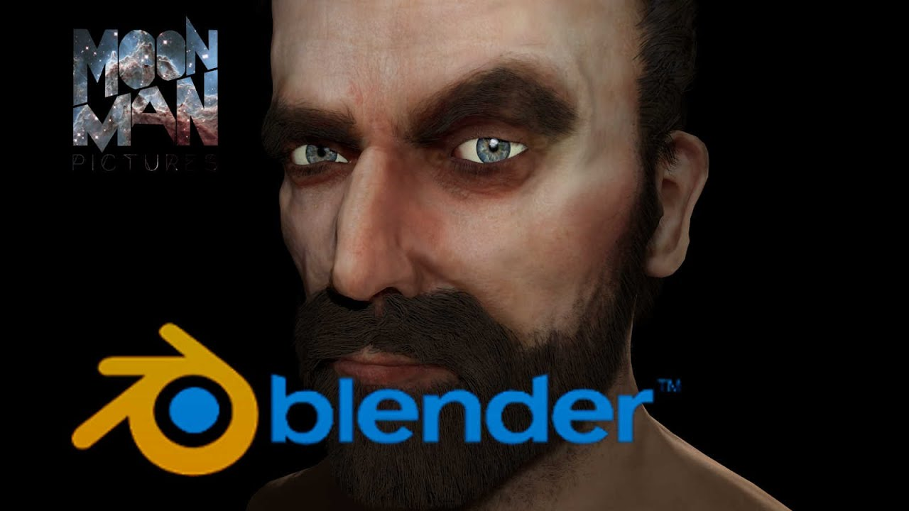 how to make a head in blender