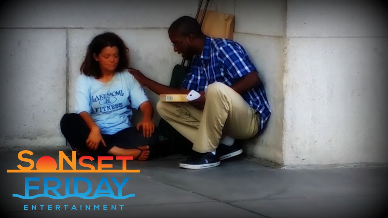 Surprising A Homeless Woman... Must Watch!