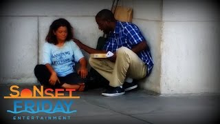 Surprising A Homeless Woman... Must Watch!