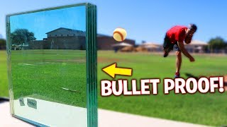 Can A Baseball Break Bullet Proof Glass? IRL Baseball Challenge