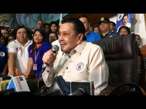 Mayor Erap Estrada on dismissal of disqualification case