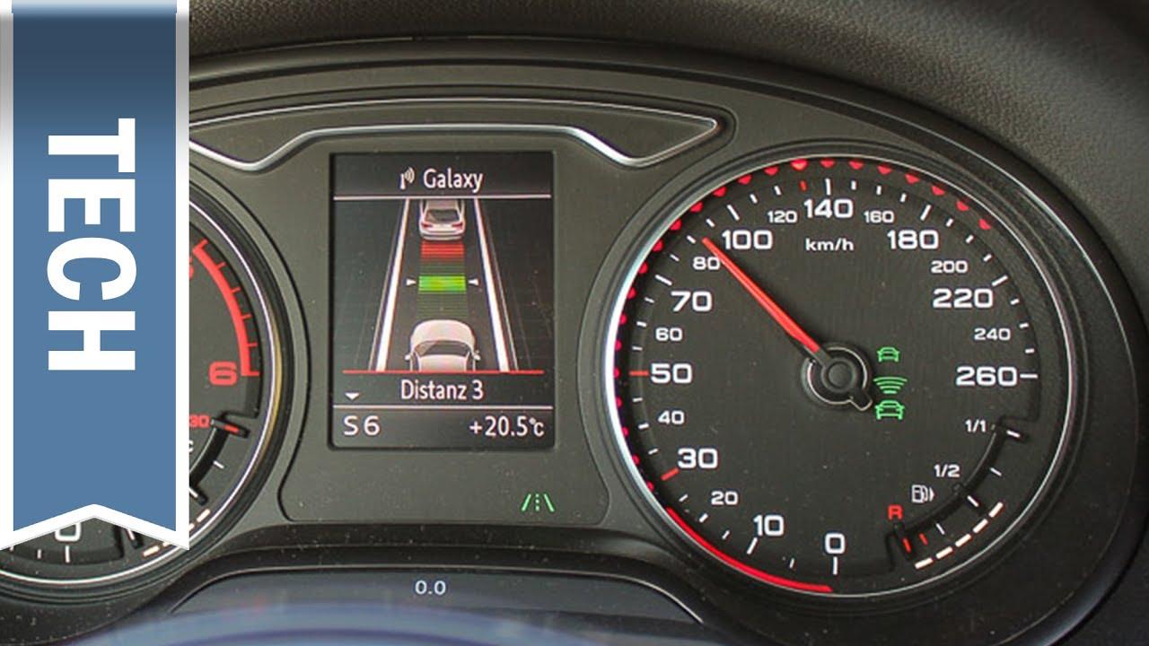 Audi ACC Adaptive Cruise Control Erklärung, Demo, Anleitung (Q5 ...   {Auto cockpit erklärung 44}