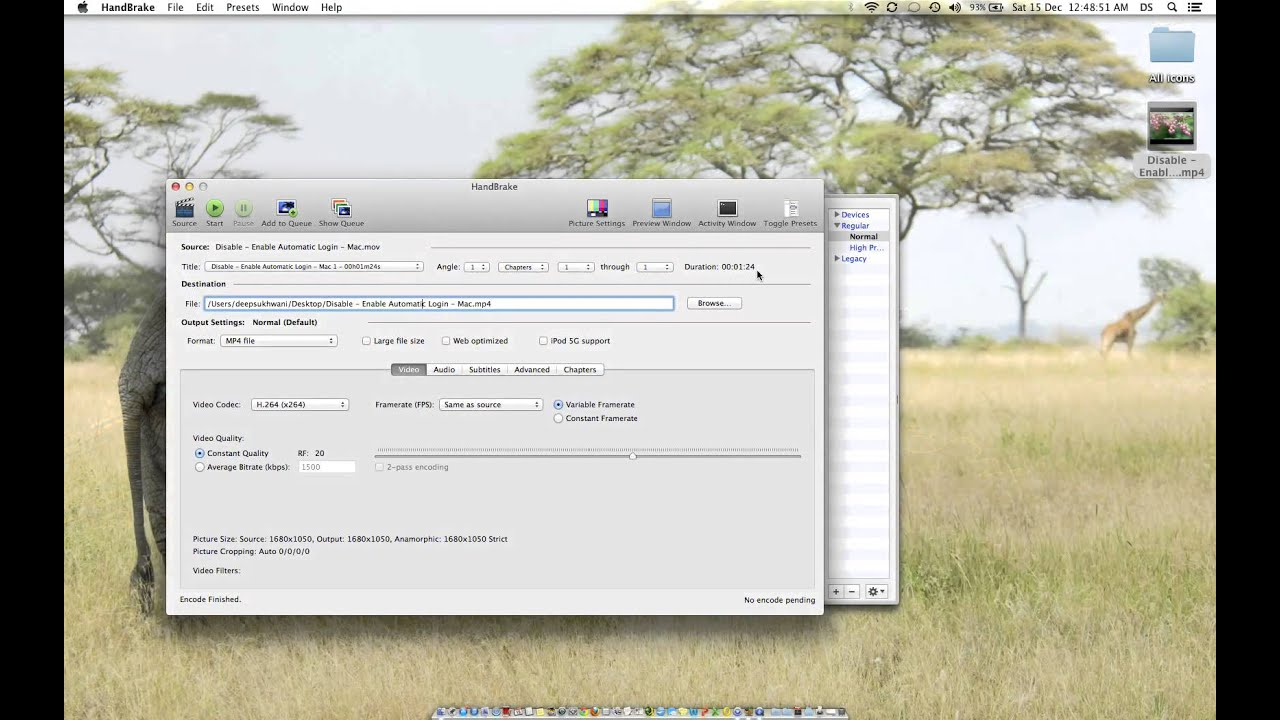Reduce Size of Video files by over 80 percent on a Mac - YouTube
