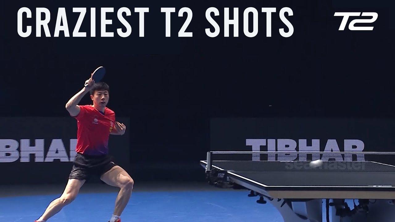 Top 5 Craziest Table Tennis Shots   T2 Diamond